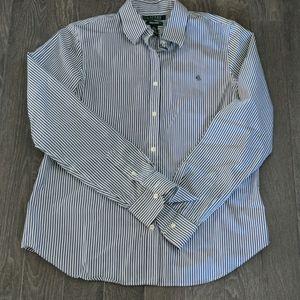 Ralph Lauren No Iron Striped Button Up